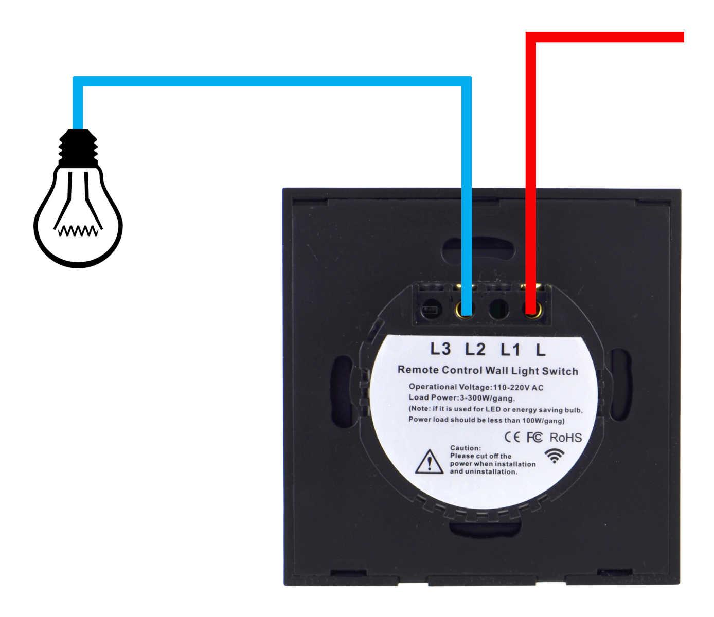 Schemat podłączenia ściemniacza dotykowego