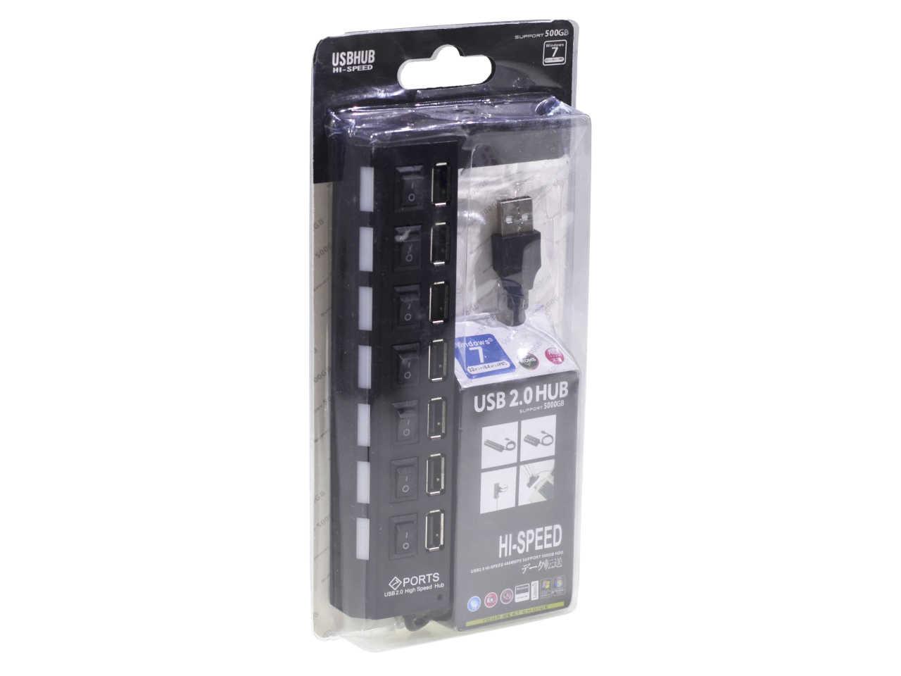 HUB 7 PORTÓW ROZDZIELACZ PORTOWY USB 2.0 - HP4