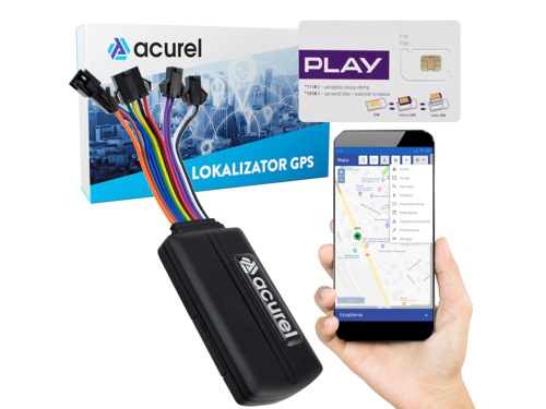 GPS tracker for cars + locator server + Play SIM card