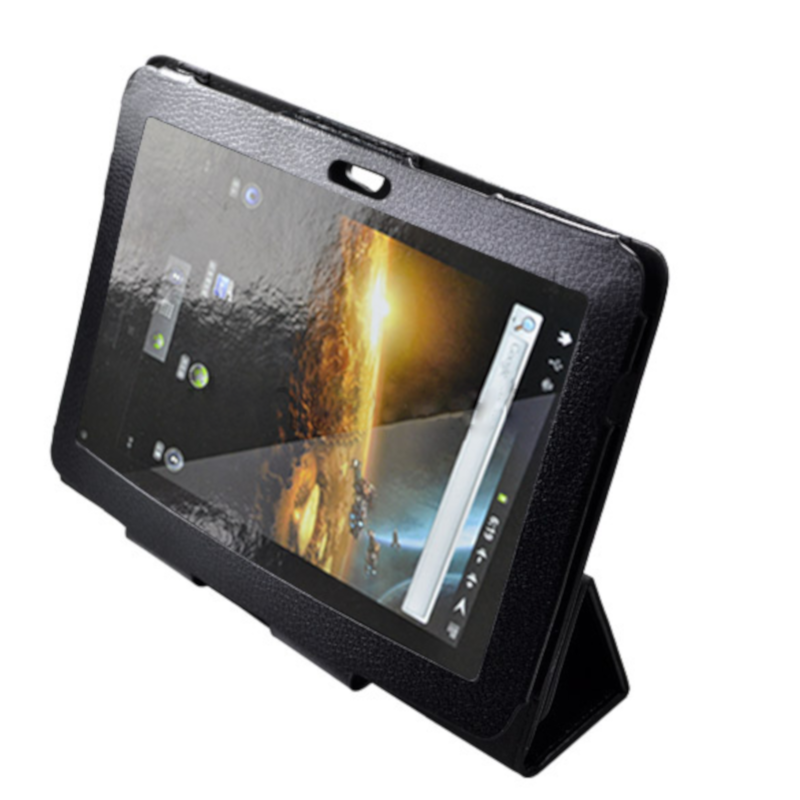Black SMART COVER CASE WITH STAND FOR SAMSUNG GALAXY TAB 10 1 GT-P7510  P7500 - SK4