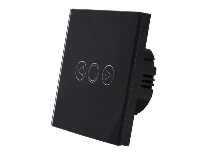 Black touch dimmer switch one gang with remote control