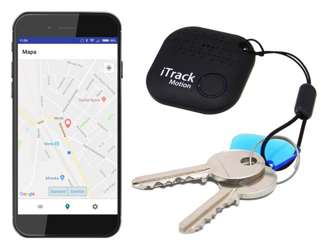Bluetooth GPS wallet key locator with motion alarm