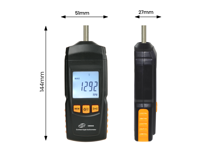 Contact tachometer RMP meter with LCD