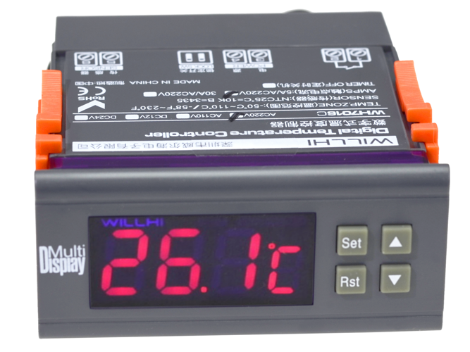 DIGITAL TEMPERATURE REGULATOR CONTROLLER THERMOSTAT CONTROL 230V / 5A / 2200W - AD55