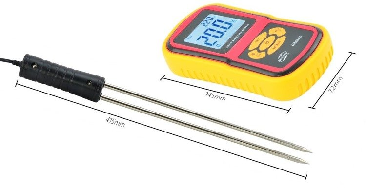 Digital LCD Tester Grain Rice Corn GRAIN MOISTURE METER Detector Tester - GM13