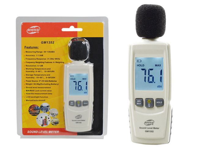 Digital Sound Level Meter Noise Measuring Instrument Decibel meter LCD - GM21