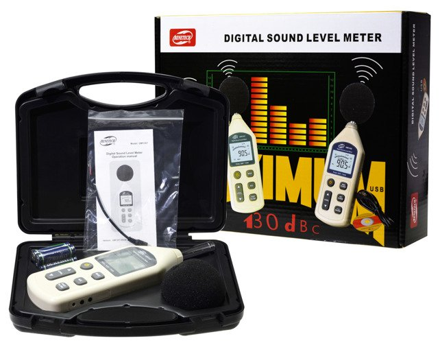 Digital Sound Level Meter Noise Measuring Instrument Decibel meter LCD - GM23