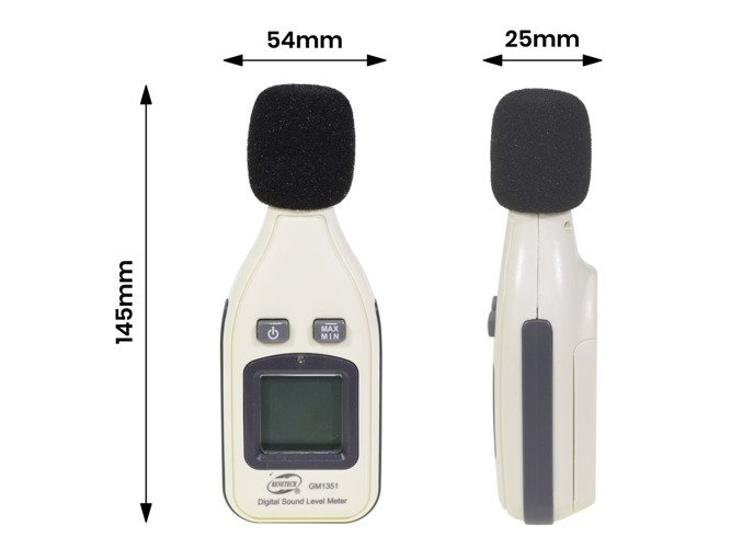 Digital Sound Pressure Level Decibel Noise Meter Tester Measurement 30~130dB LCD - GM2