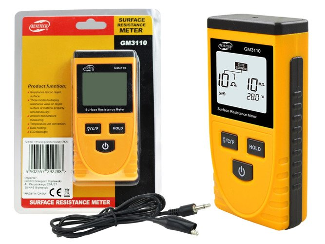 Digital Surface Resistance Resistivity Meter Electrostatic Electricity Tester ESD