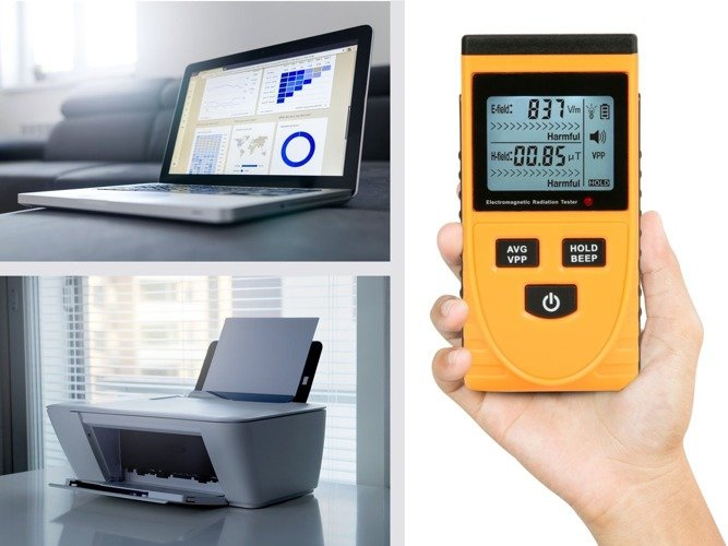 Electromagnetic field meter, wave tester