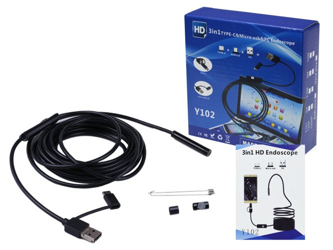 Endoscope waterproof inspection camera 5m 7mm USB VG22