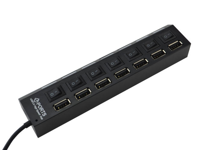 High Speed 7-Port USB 2.0 HUB Splitter Expansion Power HUB - HP4
