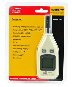 Humidity and Temperature meter digital Hygrometer Thermometer - GM9