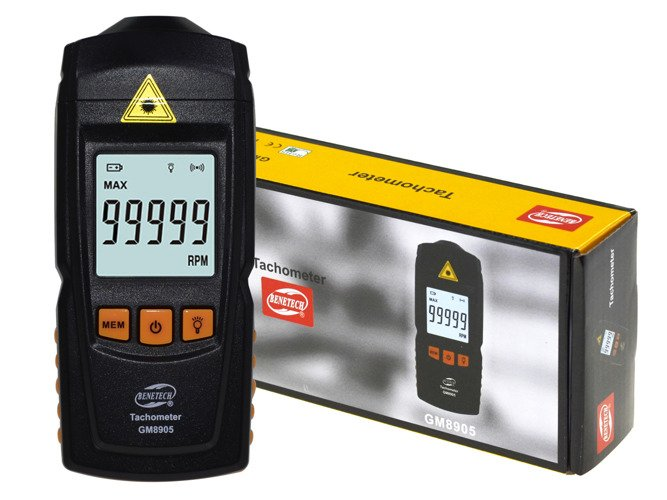 LCD Digital Laser Tachometer Non-Contact RPM Tach Meter Gauge Handheld - GM7