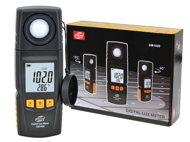 LCD Display Handheld Digital Lux Light Photometer Up to 200,000 Luxmeter - GM15