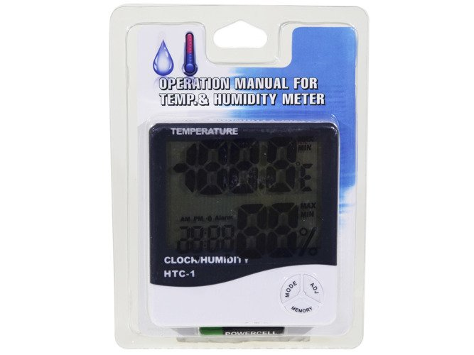 MULTIFUNCTIONAL THERMOMETER-HYGROMETER CLOCK 3 in 1 LCD - AD43