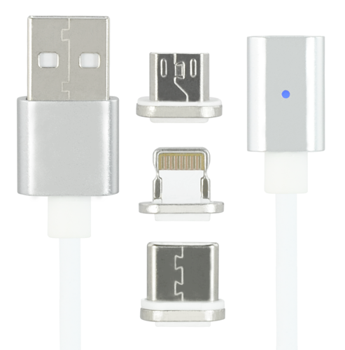 Magnetic Wire 3in1 iPhone USB-C MicroUSB KB27