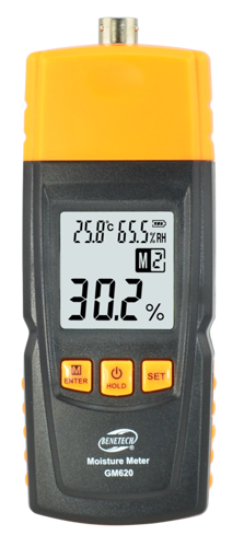 Portable Digital Moisture Meter GM620 Humidity Detector Tester LCD Display - GM18