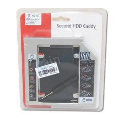 Second 2nd HDD Hard Drive Caddy For 12.7mm Universal CD/DVD-ROM Optical Bay SATA To SATA - KB11
