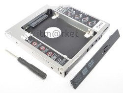 Second 2nd HDD Hard Drive Caddy For 9,5mm Universal CD/DVD-ROM Optical Bay SATA To SATA - KB15