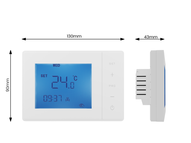 Touch thermostat 24/7 room controller 3A