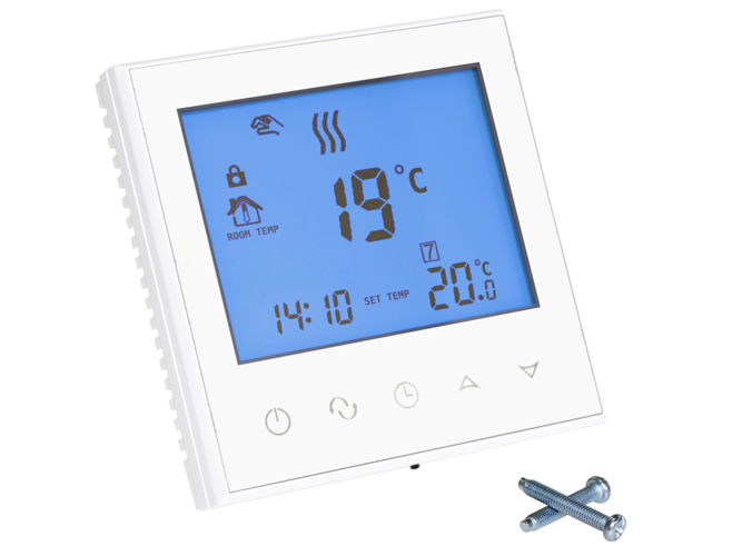 Touch thermostat WiFi regulator white 3A