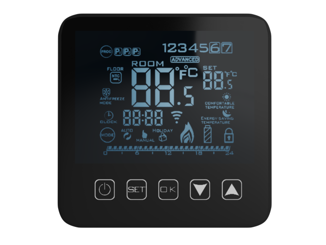 Touchscreen Thermostat 24/h + Sensor - AD78