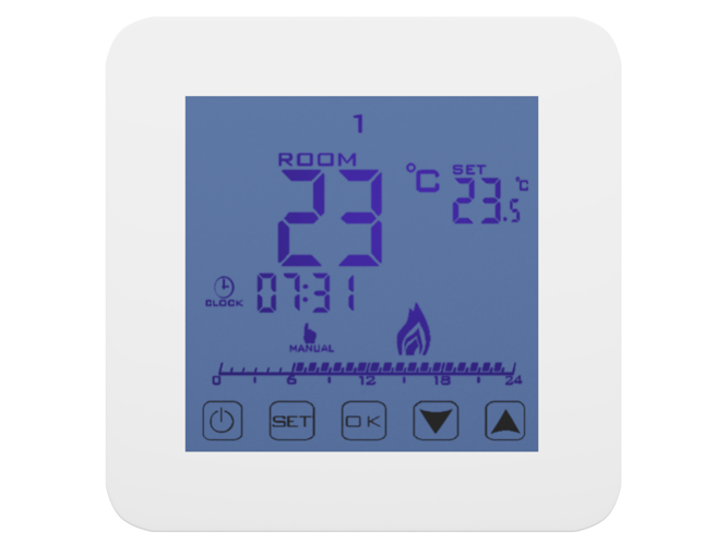 Touchscreen Thermostat Controler 24/7 Indoor- AD79