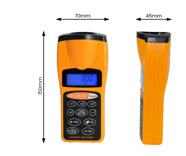 ULTRASONIC LCD LASER METER POINTER DISTANCE MEASURER RANGE METER - MW2