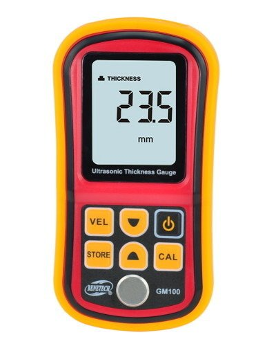 Ultrasonic Wall Thickness Gauge Meter Tester Steel PVC Digital Testing - GM17