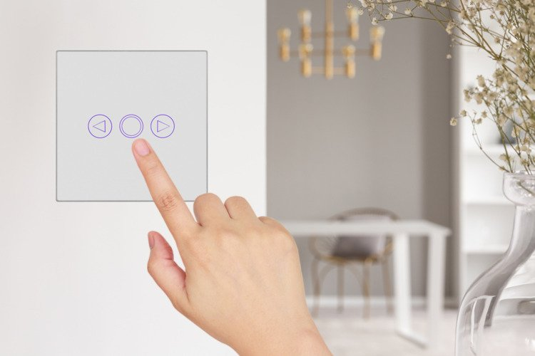 White touch dimmer switch one gang with remote control