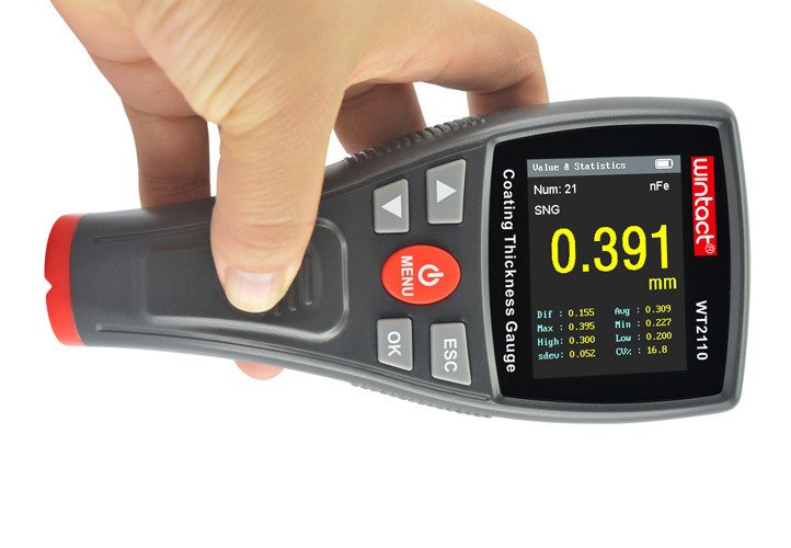 Wireless coating thickness meter