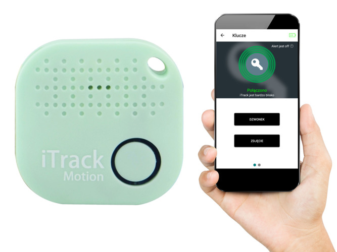 iTrack Motion locator for keys, movement alarm, Bluetooth GPS mint