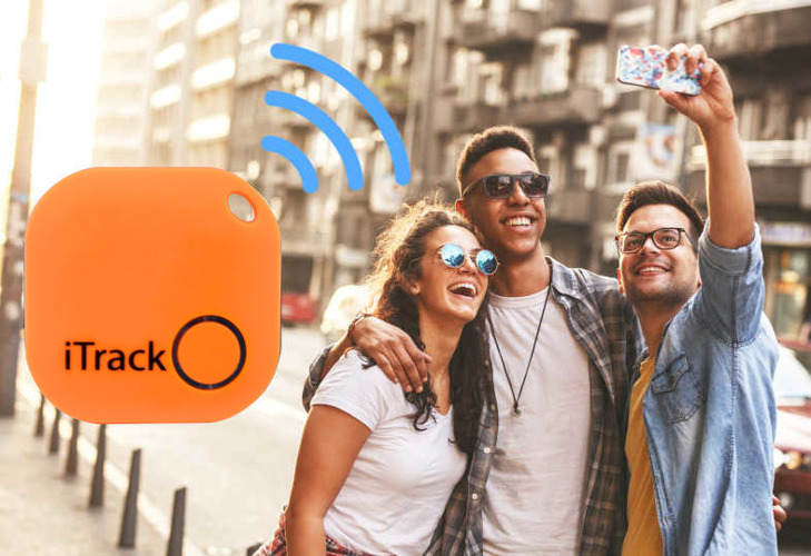 iTrack1 key locator Bluetooth GPS orange