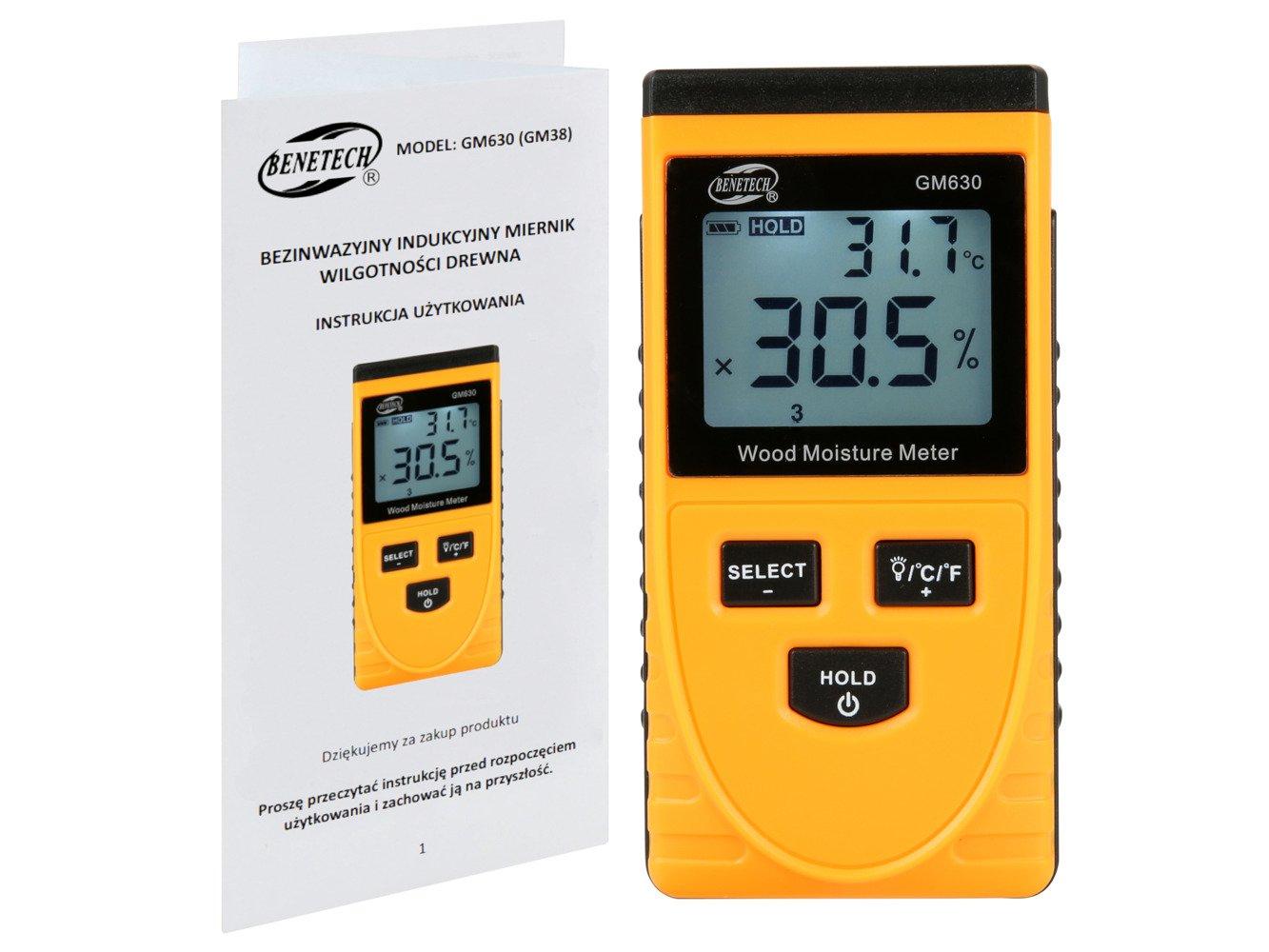 Bezinwazyjny Wilgotnościomierz Miernik Wilgotności Drewna Gm630 Urządzenia Pomiarowe Wilgotnościomierze Elexpress Pl Sklep Internetowy
