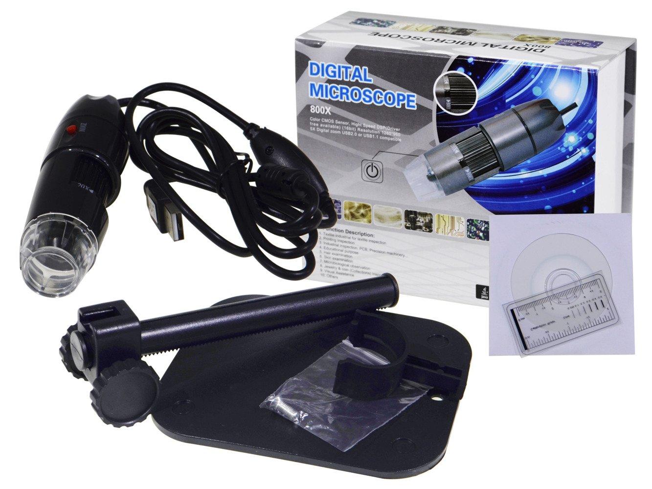 Mikroskop cyfrowy kamera usb 8 led 800x 2mpx ad71 komputery