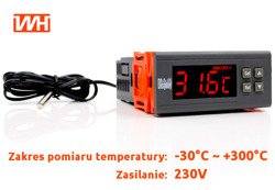 Regulator Temperatury -30C +300 alarm 230V - AD57